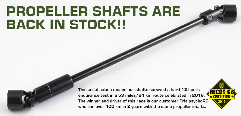 Our shafts are back in stock