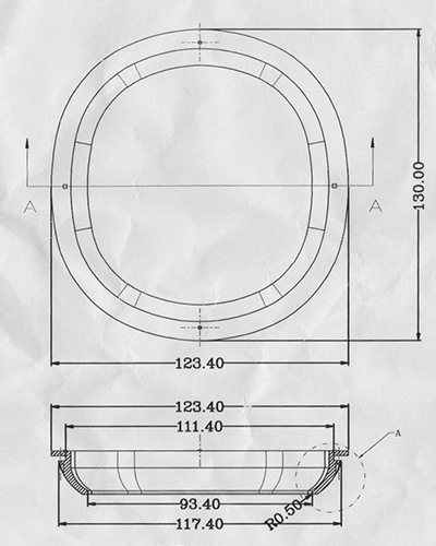 Measures of Round Circle Fender