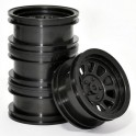 Wagon Wheels Black , Offset -1 ( set of 4 )