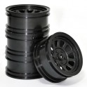 Wagon Wheels Black , Offset -3 ( set of 4 )