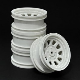 Wagon Wheels White , Offset -1 ( set of 4 )
