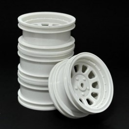 Wagon Wheels White , Offset +1 ( set of 4 )
