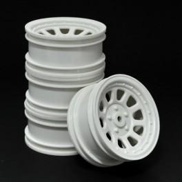 Wagon Wheels Blancas, Offset -3 ( pack de 4 )