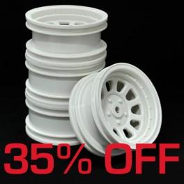 Wagon Wheels White 35%OFF. Offset +1 ( set of 4 )