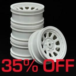 Wagon Wheels White 35% OFF. Offset -3 ( set of 4 )