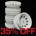 Wagon Wheels White 35% OFF. Offset -1 ( set of 4 )