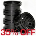 Wagon Wheels Black 35%OFF. Offset -1 ( set of 4 )