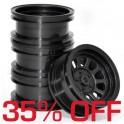 Wagon Wheels Black 35% OFF. Offset +1 ( set of 4 )