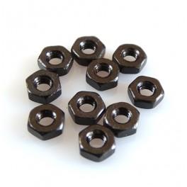 M2 Tuerca acabada en negro (10 piezas)